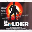 THE SOLDIER ~ '82 Half-Sheet 22X28 SPY Movie Poster ~ KEN WAHL / KLAUS KINSKI