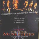 THREE MUSKETEERS ~'93 Movie Promo Poster ~ CHARLIE SHEEN / KIEFER SUTHERLAND / REBECCA DeMORNAY