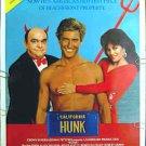HUNK ~ '87 Sexy Beefcake 1-Sheet Movie Poster ~ DEBORAH SHELTON / JAMES COCO / JOHN ALLEN NELSON