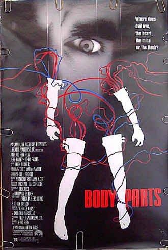 BODY PARTS ~ '91 1-Sheet Horror Movie Poster ~ JEFF FAHEY / KIM DELANEY / BRAD DOURIF