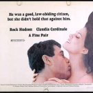 A FINE PAIR ~ '69 Half-Sheet Sex Comedy Movie Poster ~ Rock HUDSON / Claudia CARDINALE
