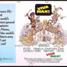 VIVA MAX ~ '70 Half-Sheet Movie Poster ~ JACK DAVIS Art / ALAMO / PETER USTINOV / JONATHAN WINTERS