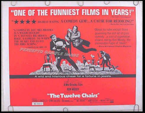 TWELVE CHAIRS / 12 CHAIRS ~ '70 Half-Sheet Movie Poster ~ MEL BROOKS / FRANK LANGELLA / DOM DeLUISE