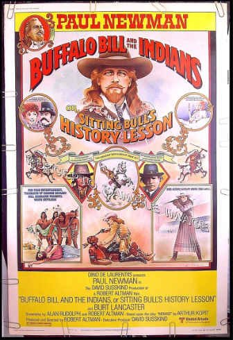 BUFFALO BILL AND THE INDIANS ~ '76 40X60 Movie Poster ~ PAUL NEWMAN / BURT LANCASTER / ROBERT ALTMAN