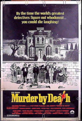 MURDER BY DEATH ~ 40X60 Movie Poster ~ CHARLES ADDAMS Art / PETER SELLERS / PETER FALK