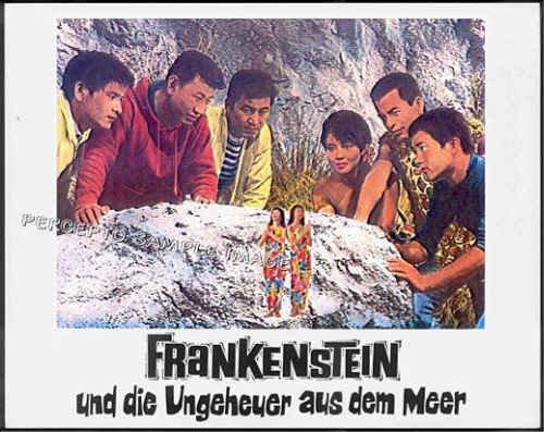 DESTROY ALL MONSTERS ~ '69 Color TOHO GODZILLA Movie Lobby Card 5 ~ MOTHRA's TINY TWINS