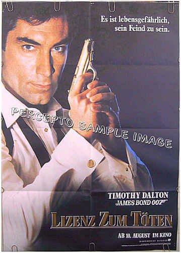 LICENCE TO KILL ~ '86 Rare-Style 33x46 Movie Poster ~ JAMES BOND / TIMOTHY DALTON / LICENSE TO KILL