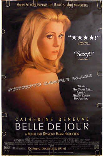 BELLE DE JOUR ~ Original R95 1-Sheet Movie Poster ~ CATHERINE DENEUVE / LUIS BUNUEL