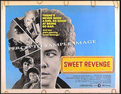 SWEET REVENGE ~ RARE '77 Half-Sheet Movie Poster ~ STOCKARD CHANNING / SAM WATERSTON