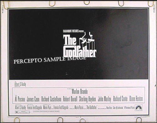 The GODFATHER ~ '72 Half-Sheet MAFIA Movie Poster ~ MARLON BRANDO / AL PACINO / JAMES CAAN