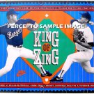 NOLAN RYAN King of Zing ~ Original 90s Texas Rangers Baseball Stat poster ~ MAJOR LEAGUE BASEBALL
