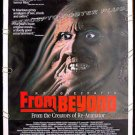 FROM BEYOND ~ '87 Horror 1-Sheet Movie Poster ~ JEFFREY COMBS / H.P. LOVECRAFT