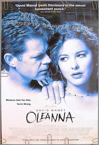 OLEANNA ~ '95 1-Sheet MOVIE POSTER ~ David MAMET / William H. MACY / DEBRA EISENSTADT