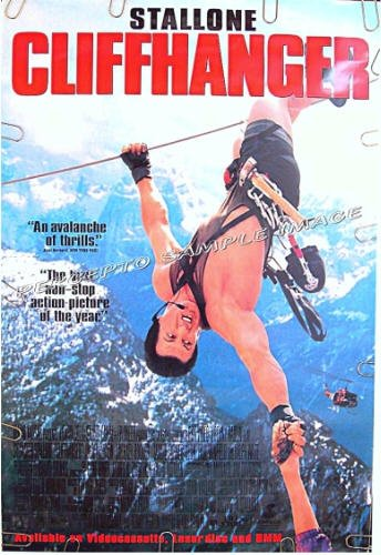 CLIFFHANGER ~ '93 1-Sheet Movie Poster ~ SYLVESTER STALLONE / MOUNTAIN CLIMB