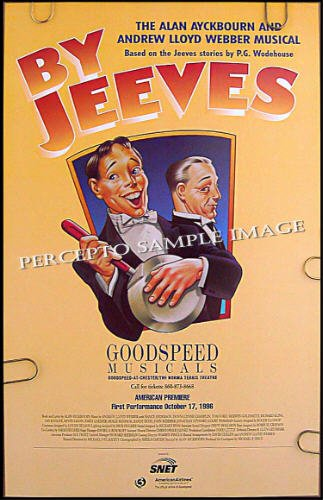 BY JEEVES ~ Orig '96 Flop Musical Poster ~ ANDREW LLOYD WEBBER / ALAN AYCKBOURNE / PRE BROADWAY