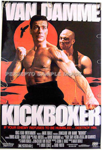 KICKBOXER ~ '89 1-Sheet Movie Poster ~ JEAN CLAUDE VAN DAMME / DENNIS ALEXIO / MARTIAL ARTS