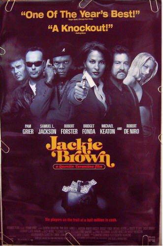 JACKIE BROWN ~'97 1-Sheet Movie Poster ~ PAM GRIER / SAMUEL L JACKSON / QUENTIN TARANTINO