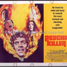 PSYCHIC KILLER ~ '75 HORROR Half-Sheet Movie Poster ~ JIM HUTTON / PAUL BURKE / ALDO RAY