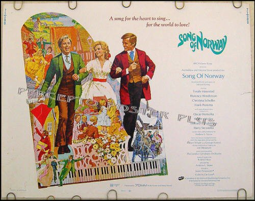 SONG OF NORWAY ~ '71 Half-Sheet Musical Movie Poster ~ FLORENCE HENDERSON / HARRY SECOMBE