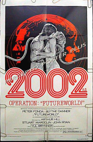 FUTUREWORLD ~ '77 1-Sheet C Sci-Fi Movie Poster ~ PETER FONDA / MICHAEL CRICHTON Westworld Sequel