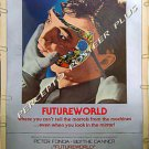 FUTUREWORLD ~ '77 RARE-SIZE 40x60 Movie Poster ~ PETER FONDA / MICHAEL CRICHTON Westworld Sequel