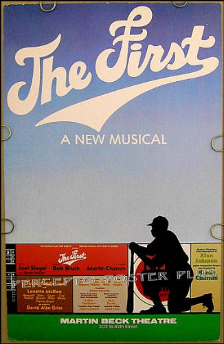 Jackie ROBINSON / THE FIRST ~ RARE '81 FLOP BROADWAY Musical Poster ~ BASEBALL / DAVID ALAN GRIER