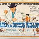 MAN FROM BUTTON WILLOW ~ Rare '64 Half-Sheet COWBOY CARTOON WESTERN Movie Poster ~ DALE ROBERTSON