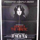 EXORCIST II THE  HERETIC ~  '77 1-Sheet Movie Poster ~  LINDA BLAIR / RICHARD BURTON / LETTICK Art