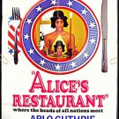 ALICE'S RESTAURANT  ~ Rare Style B 1-Sheet ADVANCE Movie Poster ~  ARLO GUTHRIE / WOODSTOCK ERA