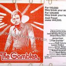 The GAMBLER ~ '74 Half-Sheet Movie Poster ~ Las Vegas / JAMES CAAN / PAUL SORVINO / LAUREN HUTTON
