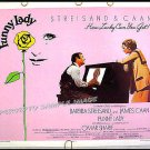 FUNNY LADY ~ '75 Half-Sheet Movie Poster ~ BARBRA STREISAND / JAMES CAAN / OMAR SHARIF
