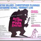 RETURN of the PINK PANTHER ~ '75 Half-Sheet Movie Poster ~ PETER SELLERS / HERBERT LOM