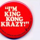 KING KONG ~ Original 1976 HORROR MOVIE PROMOTION PINBACK ~ JESSICA LANGE