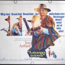 A STRANGER IN TOWN ~ Original '68 Half-Sheet Western Movie Poster ~ TONY ANTHONY / YOLNDA MODIO