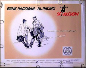 SCARECROW ~ '73 Original Half-Sheet Movie Poster ~ AL PACINO / GENE HACKMAN