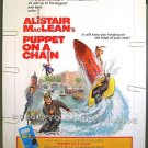 PUPPET ON A CHAIN ~ '72 Rare Size 30x40 Movie Poster ~  BARBARA PARKINS / ALISTAIR MacLEAN