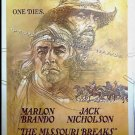 MISSOURI BREAKS ~ '76 40x60 Movie Poster ~ MARLON BRANDO / JACK NICHOLSON / BOB PEAK Art