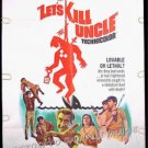 LET'S KILL UNCLE ~ '66 1-Sheet Movie Poster ~ WILLIAM CASTLE / NIGEL GREEN / LINDA LAWSON