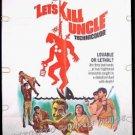 LET'S KILL UNCLE ~ '66 1-Sheet Movie Poster ~ WILLIAM CASTLE / NIGEL GREEN / LINDA LAWSON