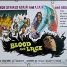 BLOOD AND LACE ~ 1971 AIP Half-Sheet Horror Movie Poster ~ GLORIA GRAHAME / MELODY PATTERSON