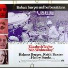 ASH WEDNESDAY ~ '73 Half-Sheet Movie Poster ~ ELIZABETH TAYLOR / HELMUT BERGER / HENRY FONDA