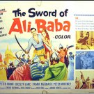 SWORD OF ALI BABA ~ Rare-Size '65 Half-Sheet Movie Poster ~ PETER MANN / JOCELYN LANE