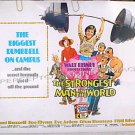 STRONGEST MAN IN THE WORLD ~ Orig '75 Half-Sheet DISNEY Movie Poster ~ KURT RUSSELL / JOE FLYNN