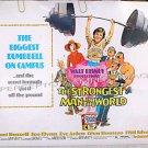 STRONGEST MAN IN THE WORLD ~ Orig '75 Half-Sheet DISNEY Movie Poster ~ KURT RUSSELL / JOE FLYNN