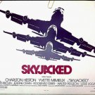 SKYJACKED ~ Original '72 Half-Sheet Movie Poster ~ CHARLTON HESTON / YVETTE MIMIEUX / JAMES BROLIN