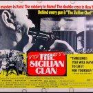 SICILIAN CLAN ~ Orig 1970 Half-Sheet Movie Poster ~ JEAN GABIN / ALAIN DELON / SYDNEY CHAPLIN