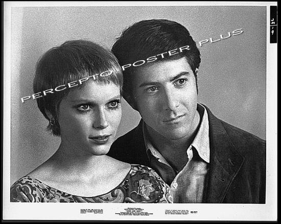 JOHN AND MARY ~ '69 Original Romantic Comedy Movie Photo ~ MIA FARROW  DUSTIN HOFFMAN