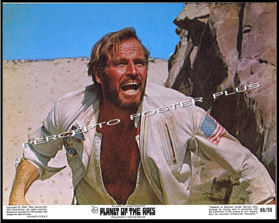 PLANET OF THE APES ~ '68 Sci-Fi Movie Photo ~ CHARLTON HESTON / ASTRONAUT