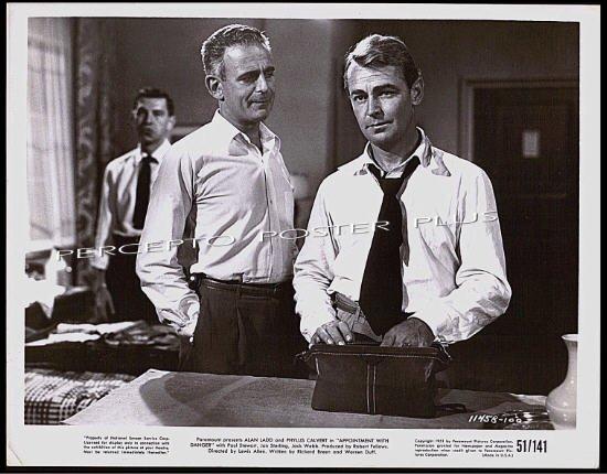 APPOINTMENT WITH DANGER ~  '51 Noir Movie Photo ~ ALAN LADD / JACK WEBB / PAUL STEWART