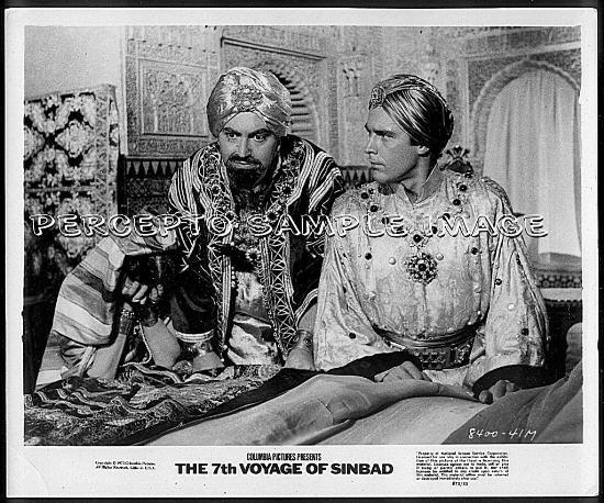 THE 7th VOYAGE OF SINBAD ~1958 Orig R75 RAY HARRYHAUSEN Movie Photo ~ KERWIN MATTEWS / KATHRYN GRANT